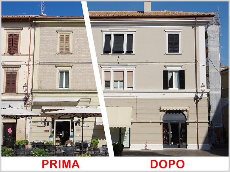 Riqualifica edificio storico via dei Commercianti Senigallia